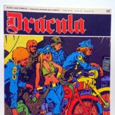 Cómics: DRÁCULA 26. LOS SALVAJES DEL CUERO NEGRO (ESTEBAN MAROTO) BURULAN BURU LAN, 1970. Lote 155653694