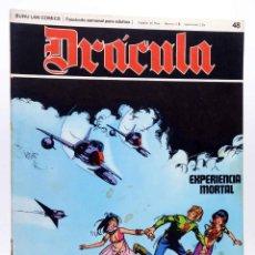 Cómics: DRÁCULA 48. EXPERIENCIA MORTAL (ESTEBAN MAROTO) BURULAN BURU LAN, 1970. Lote 155653726
