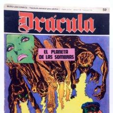 Cómics: DRÁCULA 59. EL PLANETA DE LAS SOMBRAS (ESTEBAN MAROTO) BURULAN BURU LAN, 1970. Lote 155653750
