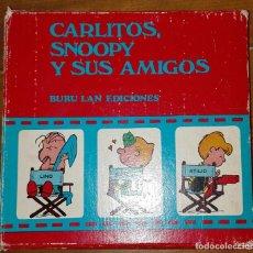 Cómics: ESTUCHE 7 LIBROS CARLITOS, SNOOPY Y SUS AMIGOS. BURU LAN EDICIONES. Lote 155936286