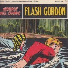 Cómics: HEROES DEL COMIC - FLASH GORDON - BURULAN - FASCICULO Nº 21. Lote 157208274