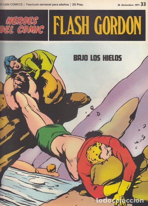 HEROES DEL COMIC - FLASH GORDON - BURULAN - FASCICULO Nº 33 (Tebeos y Comics - Buru-Lan - Flash Gordon)