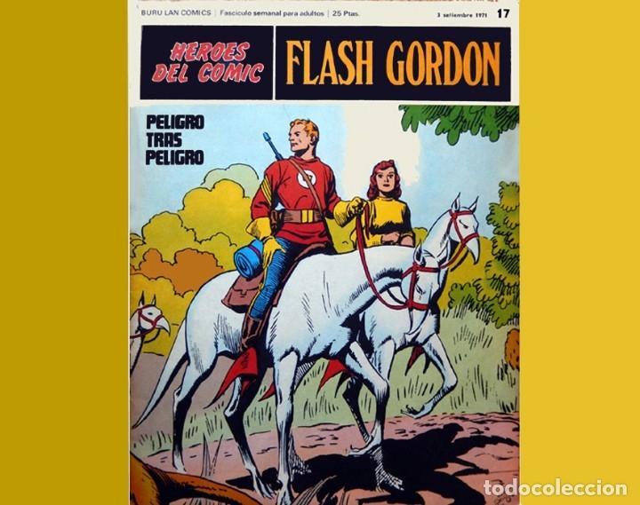 Cómics: FLASH GORDON, LOTE DE 10 FASCÍCULOS PERTENECIENTES AL TOMO 2, 1971 - BURU-LAN - BUEN ESTADO. - Foto 10 - 84867252