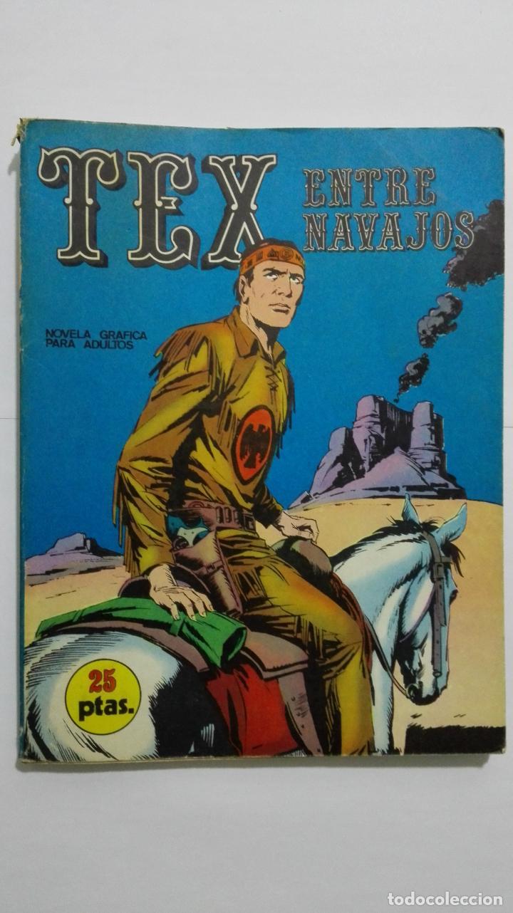 TEX Nº 12, ENTRE NAVAJOS, EDICIONES BURU-LAN, 1971 (Tebeos y Comics - Buru-Lan - Tex)