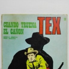 Cómics: TEX Nº 28, CUANDO TRUENA EL CAÑON, EDICIONES BURU-LAN, 1971. Lote 157377138
