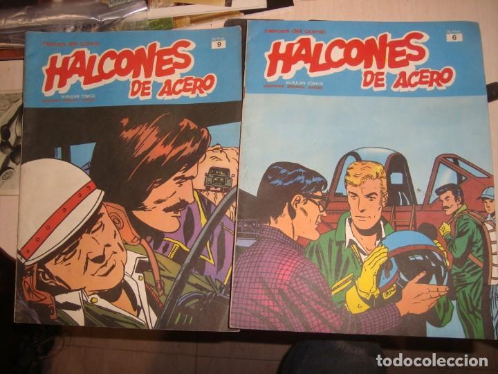 2 COMICS DE HALCONES DE ACERO Nº 6,9, (Tebeos y Comics - Buru-Lan - Halcones de Acero)