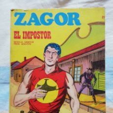 Cómics: ZAGOR Nº 21. EL IMPOSTOR. BURU LAN EDICIONES. Lote 159045929