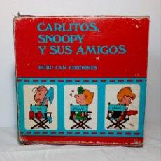 Cómics: COLECCIÓN ESTUCHE DE 7 LIBROS (CARLITOS, SNOOPY Y SUS AMIGOS) BURU LAN EDICIONES - PRIMERA EDICIÓN. Lote 159277262