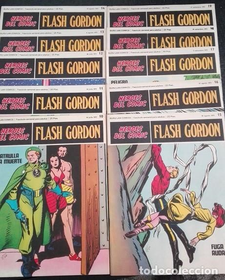 FLASH GORDON BURU LAN - 10 A 19 HEROES DEL COMIC 1.971 (Tebeos y Comics - Buru-Lan - Flash Gordon)