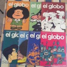Cómics: EL GLOBO. NUMEROS 1 AL 7. REVISTA MENSUAL DEL CÓMIC . Lote 159474986
