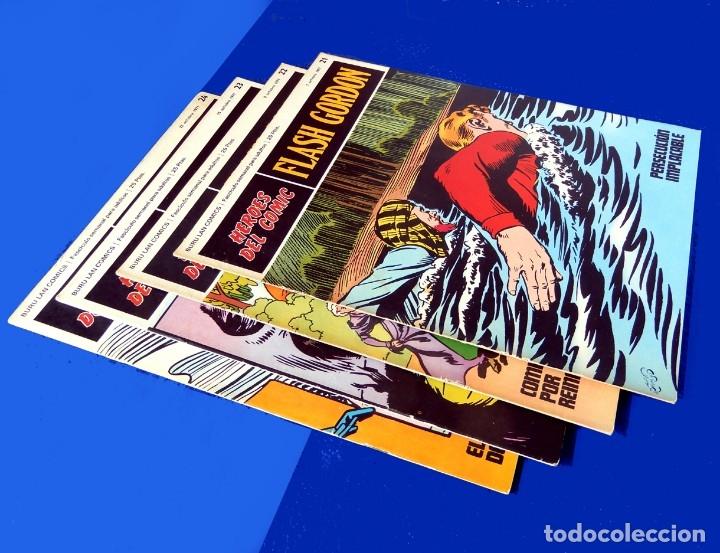 Cómics: FLASH GORDON, LOTE DE 4 FASCÍCULOS; Nº 21- 22- 23- 24 - PERTENECIENTES AL TOMO 2 - 1971 - BURU LAN - Foto 2 - 150816154