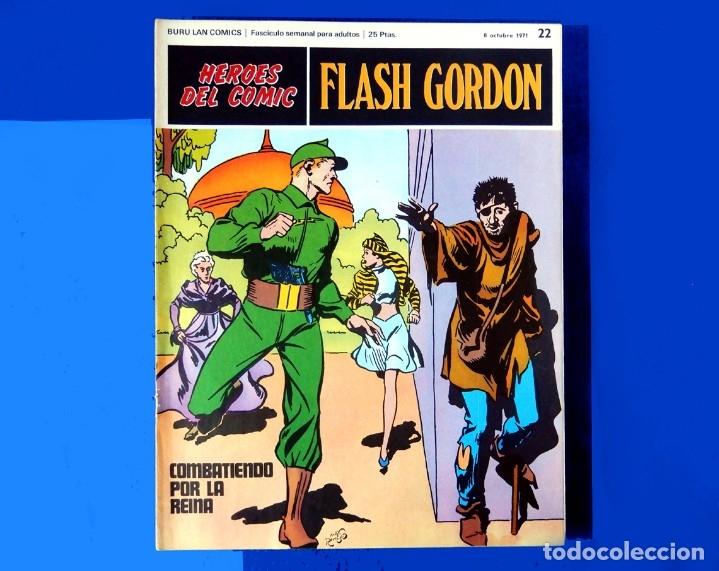 Cómics: FLASH GORDON, LOTE DE 4 FASCÍCULOS; Nº 21- 22- 23- 24 - PERTENECIENTES AL TOMO 2 - 1971 - BURU LAN - Foto 5 - 150816154