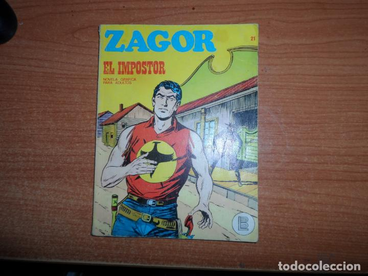 ZAGOR N º 21 EDITORIAL BURULAN BURU LAN (Tebeos y Comics - Buru-Lan - Zagor)