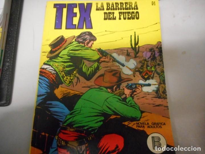TEX 64 LA BARRERA DEL FUEGO BURULAN (Tebeos y Comics - Buru-Lan - Tex)