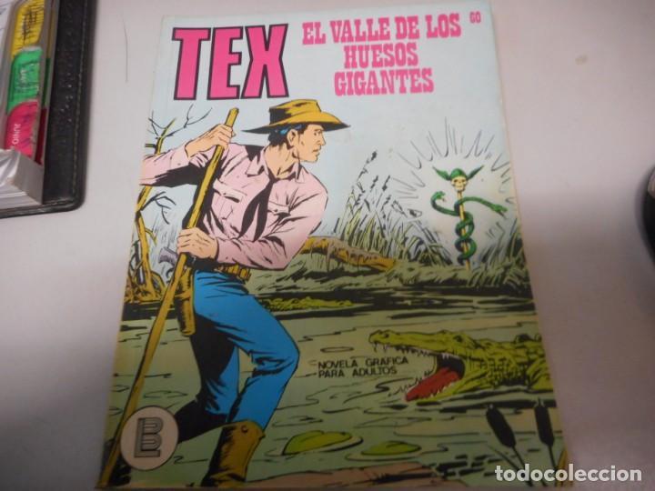 TEX 60 EL VALLE DE LOS HUESOS GIGANTES BURULAN (Tebeos y Comics - Buru-Lan - Tex)