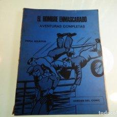 Cómics: EL HOMBRE ENMASCARADO. NÚMEROS 4, 5 Y 6. ENCUADERNACIÓN CONJUNTA. BURU LAN. 1971.. Lote 161418114