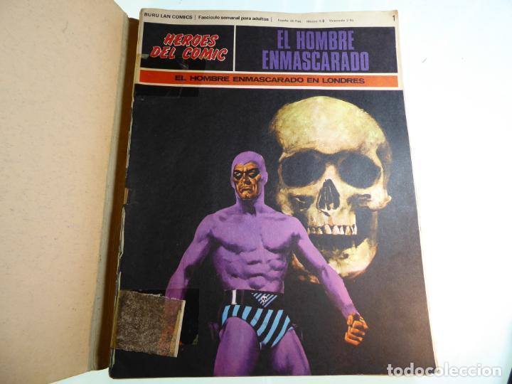 EL HOMBRE ENMASCARADO. NÚMEROS 1,4,5,6,7 Y 8. ENCUADERNACIÓN CONJUNTA. BURU LAN. 1971. (Tebeos y Comics - Buru-Lan - Otros)