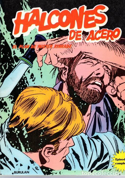 HALCONES DE ACERO. Nº 3. EL PLAN DE MISTER KINKADE. REQUIEM POR UN TIBURON DE ACERO. BURULAN 1974 (Tebeos y Comics - Buru-Lan - Halcones de Acero)