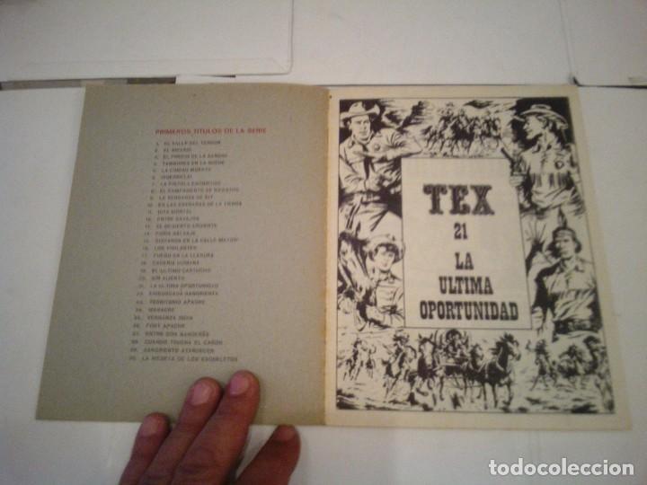 Cómics: TEX - BURU LAN - NUMERO 21 - LA ULTIMA OPORTUNIDAD - CJ 105 - GORBAUD - Foto 2 - 164065318