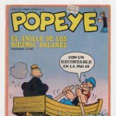 Cómics: NUMULITE L0886 POPEYE EL ANILLO DE LOS DIEZ MIL DÓLARES BURU LAN COMICS COLOR Nº 15. Lote 164156558