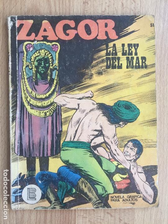 ZAGOR Nº 51 - LA LEY DEL MAR - BURU LAN - GCH (Tebeos y Comics - Buru-Lan - Zagor)