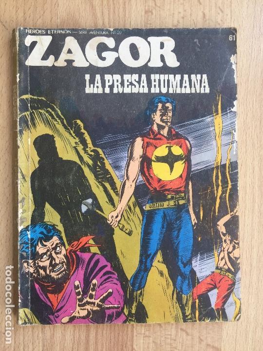 ZAGOR Nº 61 - LA PRESA HUMANA - BURU LAN - GCH (Tebeos y Comics - Buru-Lan - Zagor)
