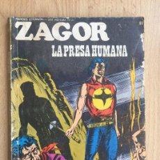 Cómics: ZAGOR Nº 61 - LA PRESA HUMANA - BURU LAN - GCH. Lote 168906952