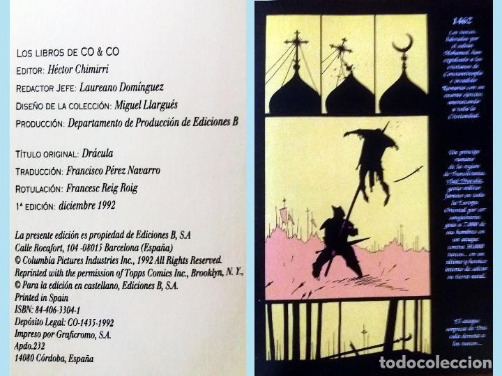 Cómics: LIBRO DRACULA EL COMIC POR BRAM STOKER.Adaptacion oficial de la película FRANCIS FORD COPOLA, 1º Edi - Foto 2 - 169123340