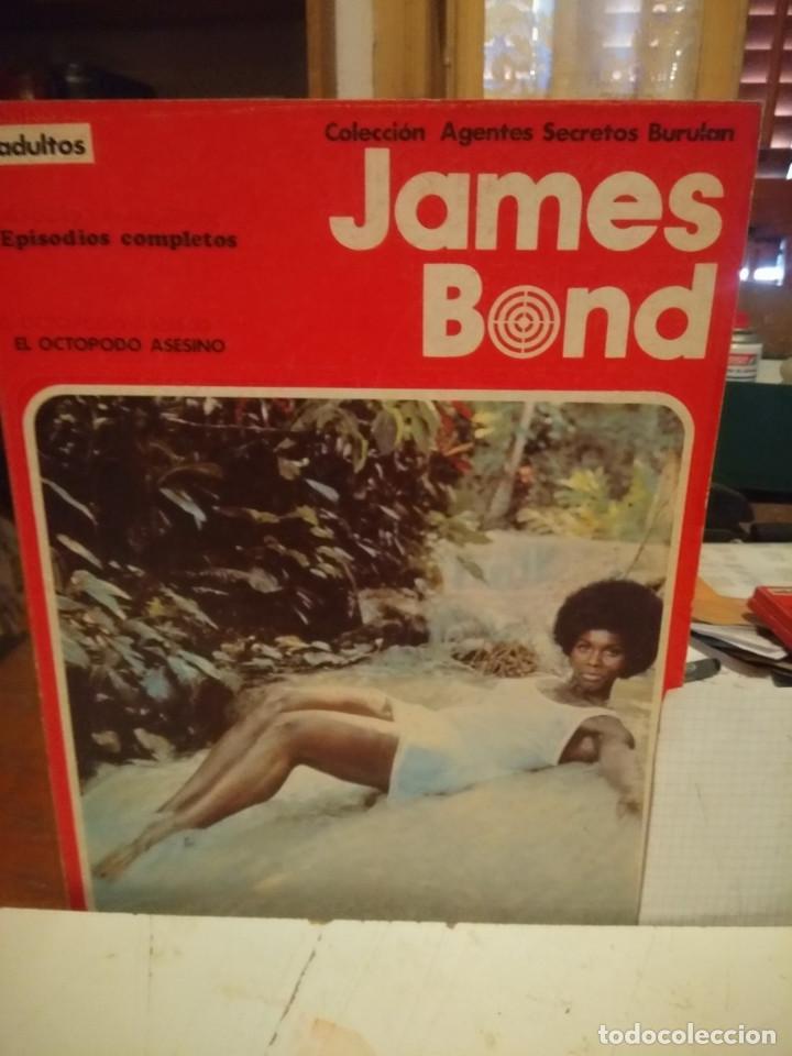 COMIC JAMES BOND : EL OCTOPODO ASESINO + ROSTRO DE ACERO ( COLECCION AGENTES SECRETOS BURULAN ) (Tebeos y Comics - Buru-Lan - James Bond)