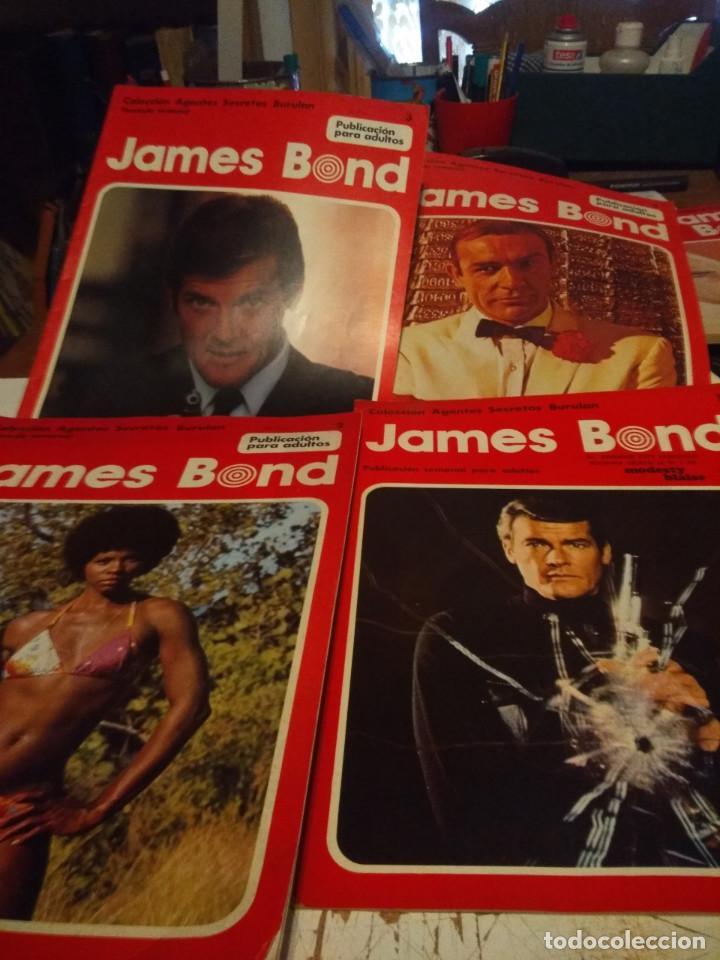 4 FASCICULOS DEL COMIC JAMES BOND COLECCION AGENTES SECRETOS BURULAN ) (Tebeos y Comics - Buru-Lan - James Bond)