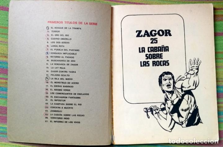 Cómics: BURU LAN - ZAGOR - NÚMERO 25 - LA CABAÑA SOBRE LAS ROCAS - Foto 3 - 48590302