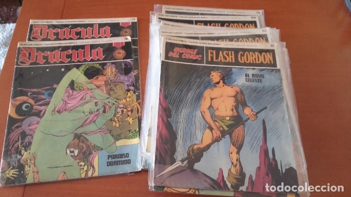 FLASH GORDON HEROES DEL COMIC BURU LAN, S. A. DE EDICIONES LOTE 19 Nº MÁS 2 DRÁCULA. (Tebeos y Comics - Buru-Lan - Flash Gordon)