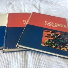 Cómics: TRES TOMOS FLASH GORDON HÉROES DEL CÓMIC BURU LAN.. Lote 172076538
