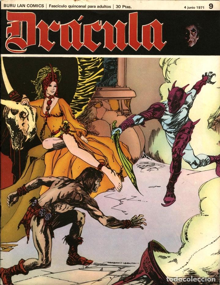 DRÁCULA-9 (BURU LAN, 1971) CON ESTEBAN MAROTO, JOSEP M. BEÁ, ALBERTO SOLSONA Y ENRIC SIÓ (Tebeos y Comics - Buru-Lan - Drácula)