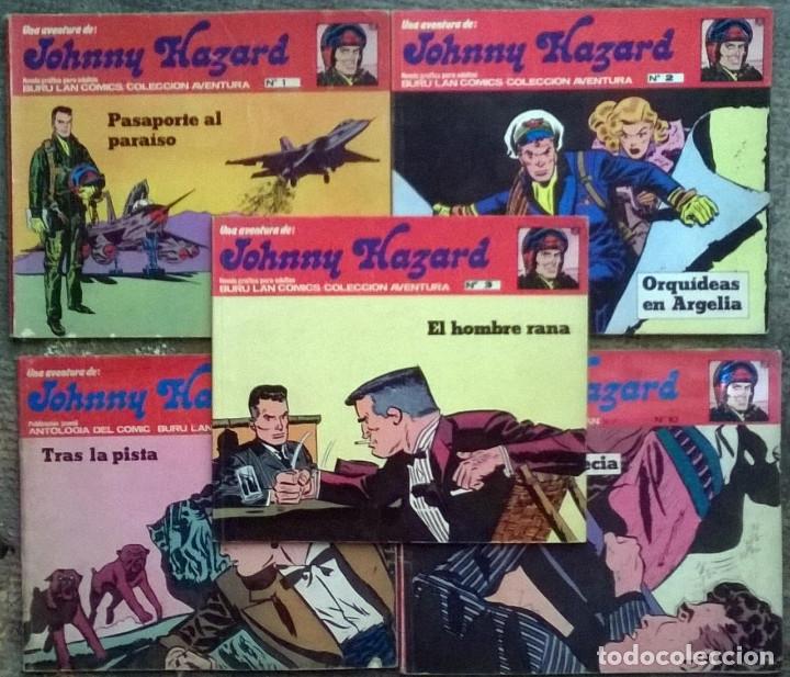 JOHNNY HAZARD. Nº 1, 2, 3, 8 Y 10. BURULAN COMICS 1973 (Tebeos y Comics - Buru-Lan - Otros)