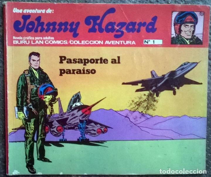 Cómics: Johnny Hazard. Nº 1, 2, 3, 8 y 10. Burulan Comics 1973 - Foto 2 - 173874149