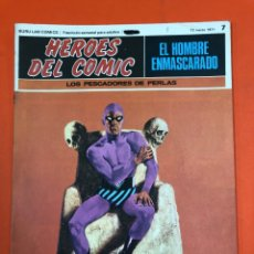 Cómics: HEROES DEL COMIC - EL HOMBRE ENMASCARADO 7 - LOS PESCADORES DE PERLAS - DE DISTRIBUIDORA, SIN LEER. Lote 173966567