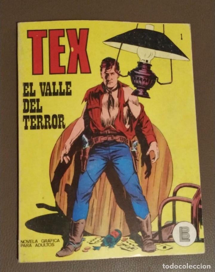 TEX NUMERO 1, EL VALLE DEL TERROR. NOVELA GRAFICA PARA ADULTOS. (Tebeos y Comics - Buru-Lan - Tex)