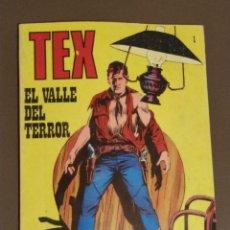 Cómics: TEX NUMERO 1, EL VALLE DEL TERROR. NOVELA GRAFICA PARA ADULTOS. . Lote 174117640