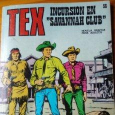 Cómics: TEX Nº 56 - INCURSION EN SAVANNAH CLUB - BURU LAN -. Lote 174127567