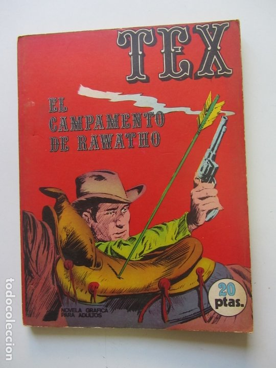 TEX Nº 8 · 1971 · EL CAMPAMENTO DE RAWATHO BURU LAN CS188 (Tebeos y Comics - Buru-Lan - Tex)