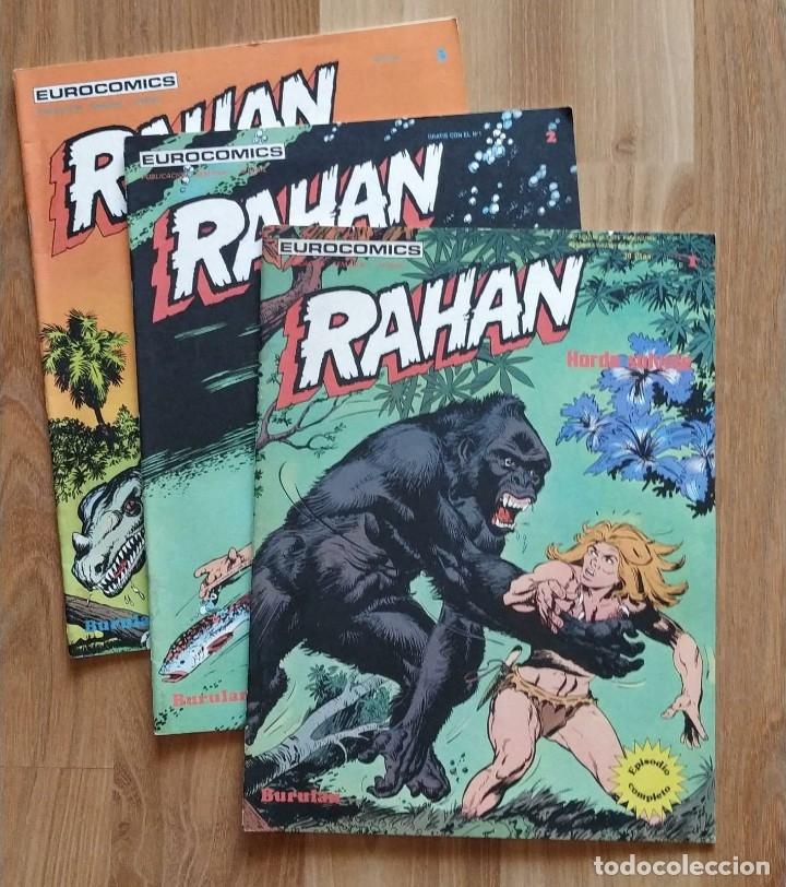 RAHAN, NUMERO 1, 2 Y 3. BUEN ESTADO. (Tebeos y Comics - Buru-Lan - Rahan)