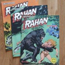 Cómics: RAHAN, NUMERO 1, 2 Y 3. BUEN ESTADO. . Lote 174484808
