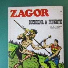 Cómics: ZAGOR (1971, BURU LAN) 23 · 1-V-1972 · CONDENA A MUERTE. Lote 174995548