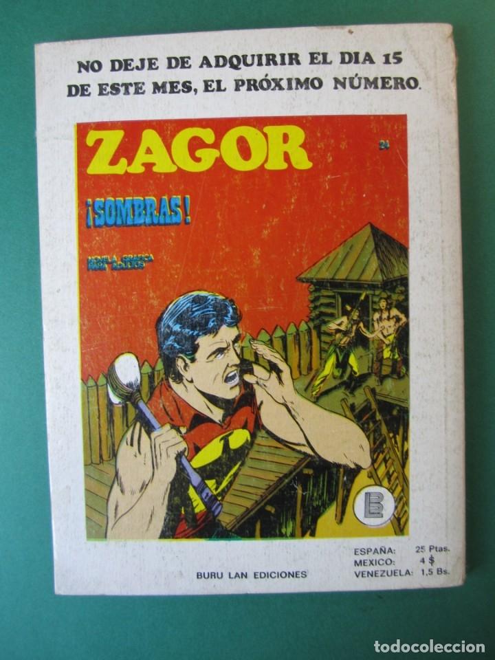 Cómics: ZAGOR (1971, BURU LAN) 23 · 1-V-1972 · CONDENA A MUERTE - Foto 2 - 174995548