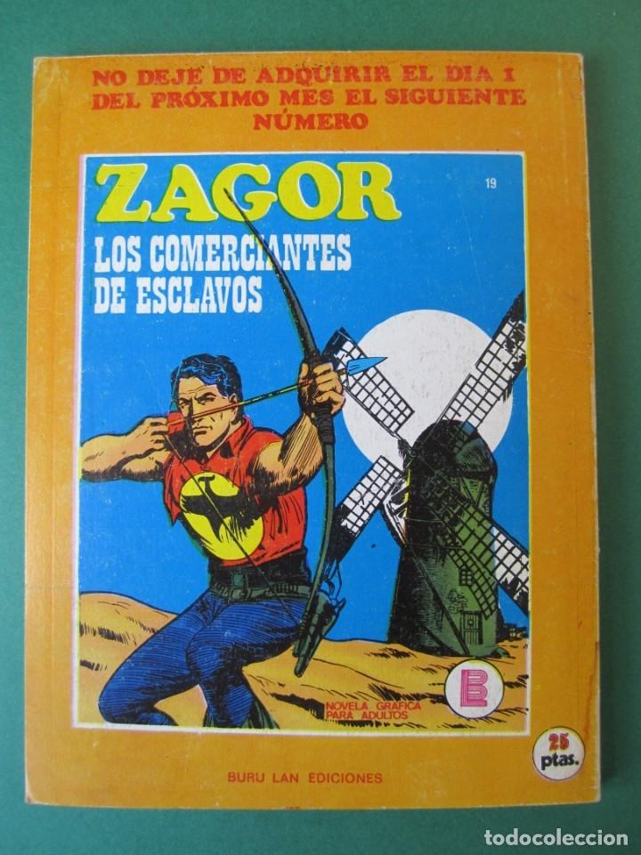 Cómics: ZAGOR (1971, BURU LAN) 18 · 15-II-1972 · EL ABISMO VERDE - Foto 2 - 174998869