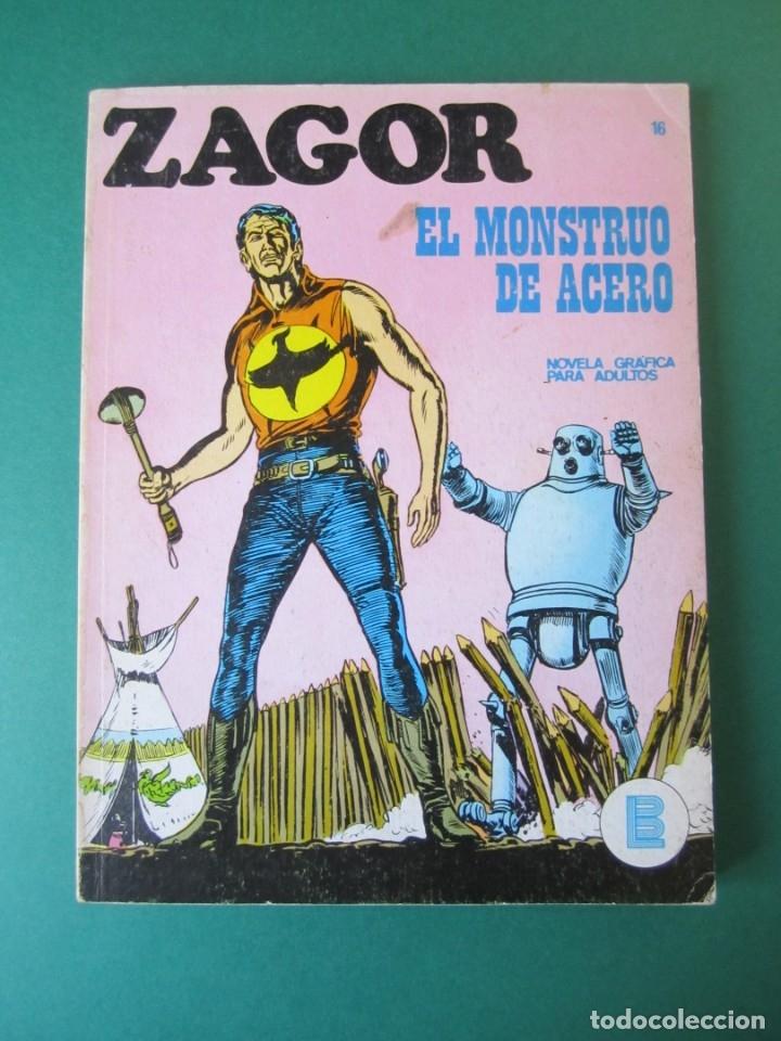 ZAGOR (1971, BURU LAN) 16 · 15-I-1972 · EL MONSTRUO DE ACERO (Tebeos y Comics - Buru-Lan - Zagor)