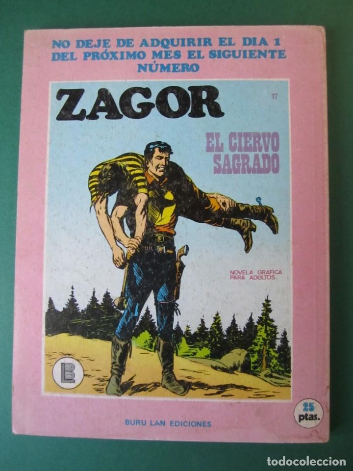 Cómics: ZAGOR (1971, BURU LAN) 16 · 15-I-1972 · EL MONSTRUO DE ACERO - Foto 2 - 174998877