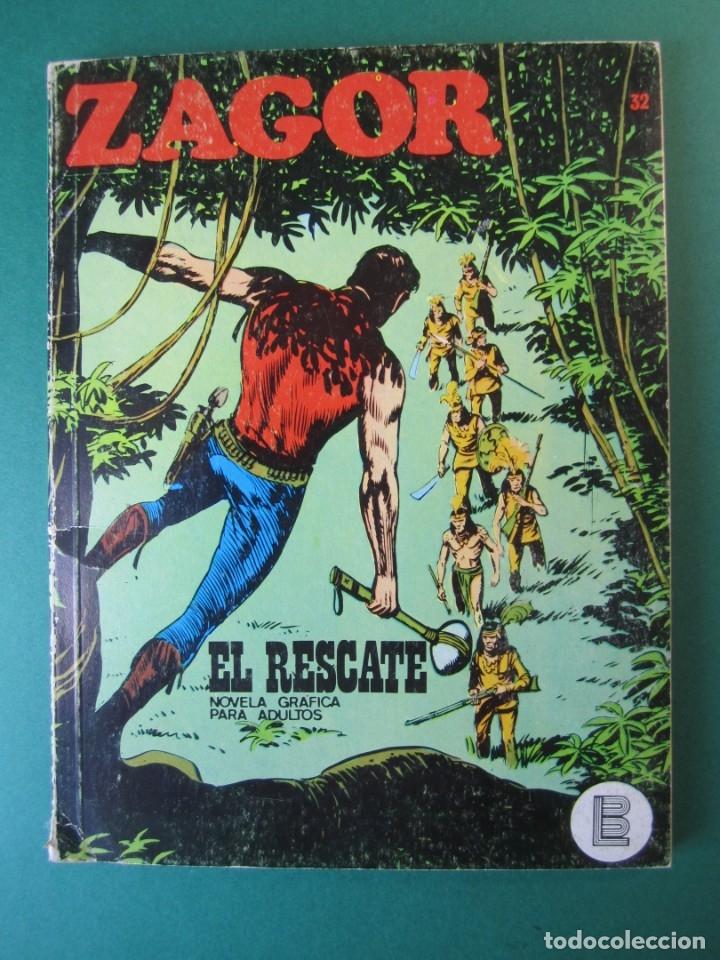 ZAGOR (1971, BURU LAN) 32 · 15-IX-1972 · EL RESCATE (Tebeos y Comics - Buru-Lan - Zagor)