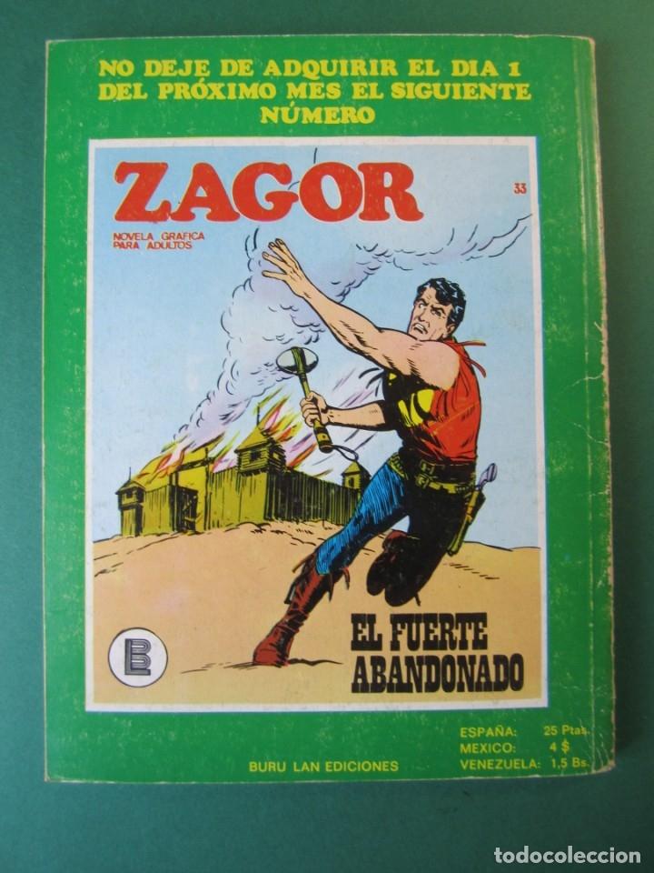 Cómics: ZAGOR (1971, BURU LAN) 32 · 15-IX-1972 · EL RESCATE - Foto 2 - 174998898